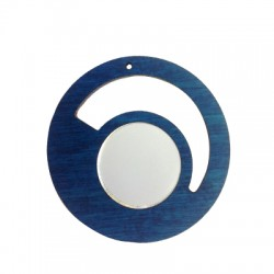 Wooden and Plexi Acrylic Pendant Round 55mm