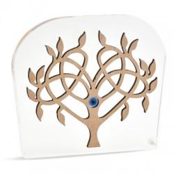 Ξύλινο με Πλέξι Ακρυλικό Επιτραπέζιο Δέντρο 119x104mm