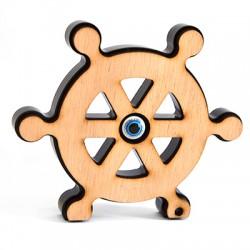 Wooden and Plexi Acrylic Deco Boat Wheel 109mm