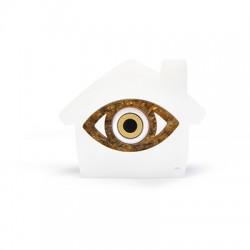 Plexi Acrylic Deco House & Wooden Eye 64x50mm