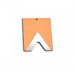 Plexi Acrylic and Wooden Pendant Geometrical 42x51mm