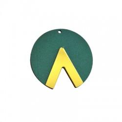 Plexi Acrylic and Wooden Pendant Geometrical 55mm