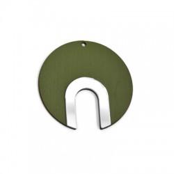 Plexi Acrylic and Wooden Pendant Geometrical 60mm
