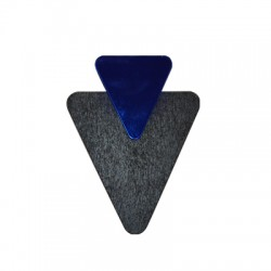 Plexi Acrylic and Wooden Pendant Triangle 52x68mm