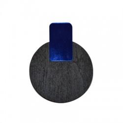 Plexi Acrylic and Wooden Pendant 55x69mm
