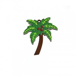 Plexi Acrylic and Wooden Pendant Palm Tree 50x53mm