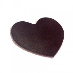 Δερμάτινο Στοιχείο Καρδιά 60mm