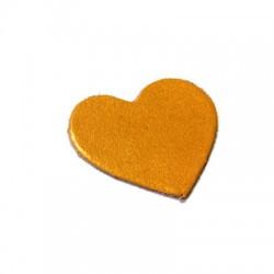 Δερμάτινο Στοιχείο Καρδιά 40mm