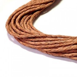 Leather Cord Twisted 2.5mm
