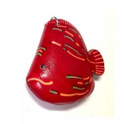 Δερμάτινο Στοιχείο Ψάρι 55mm