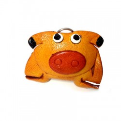 Leather Pendant Cow 40mm