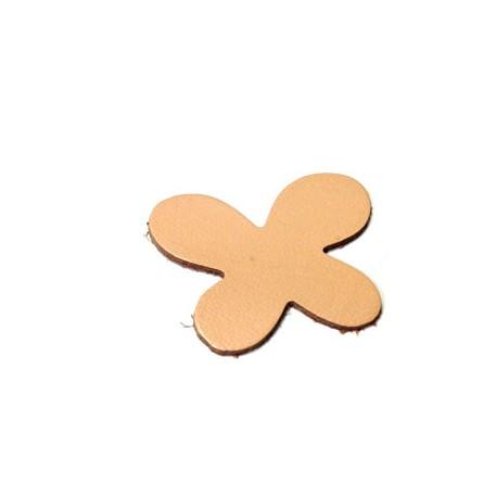 Farfalla in Cuoio 45x36mm