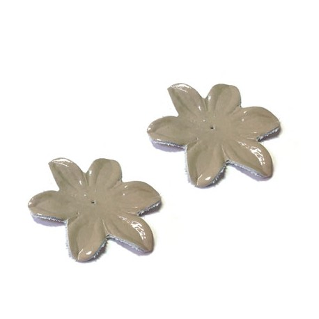 Leather Flower Shiny 55mm