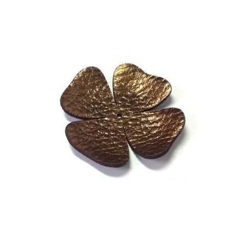 Δερμάτινο Στοιχείο Λουλούδι 50mm
