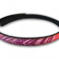 Leather Cord Double Layer Stitched Half Oval 10mm