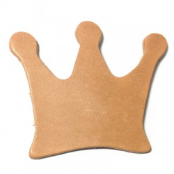 Leather Crown 70x55mm