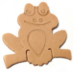 Leather Frog 55x55mm