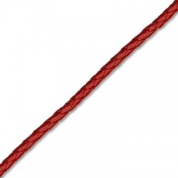 PU Leather Cord Braided Round 6mm