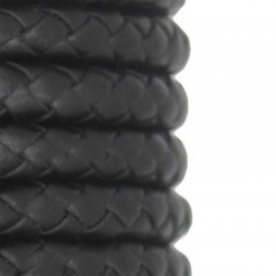 PU Leather Braided Cord Round 8mm
