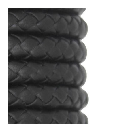 PU Leather Cord Braided Round 8mm