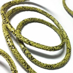 PU Leather Cord Snake Effect Stitched 5mm