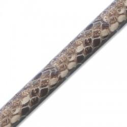 Cuir Polyester Regaliz effet Serpent 10x6mm