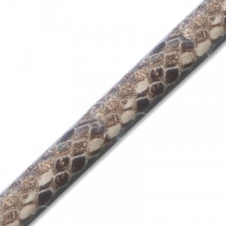 PU Leather Cord Regaliz Snake Effect 10x6mm
