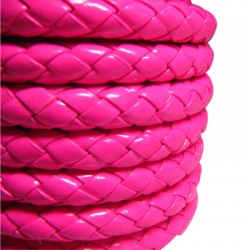 PU Leather Braided Cord Round 7mm (~5mtr/spool)