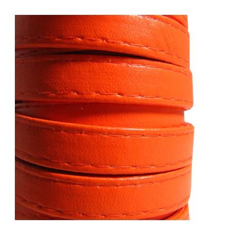 Συνθετικό Δερμάτινο Κορδόνι Πλακέ με Ραφή 10mm (5μέτρα)