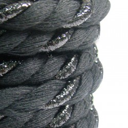 Cotton Cord Twisted with Metallic Thread 10mm