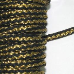 Kορδόνι Πλεκτό Στρογγυλό με Μεταλλικό Νήμα 5mm