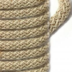 Cotton Braided Cord w/ Metallic Thread 10mm