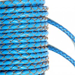 PU Leather Braided Cord 3mm