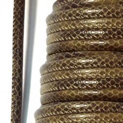 Cordino Rotondo Cucito Pitonato 6mm (5mtr/bobina