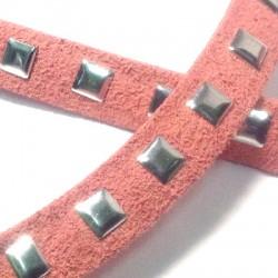 Κορδόνι Σουέτ με Τρουκ Τετράγωνο 10mm (3μέτρα/καρούλι)