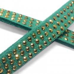 Artificial Suede 3 Rows Rivet 10mm (3 mtrs/spool)