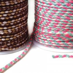 Cord Polyester Braided Round 2mm (~10mtrs/spool)