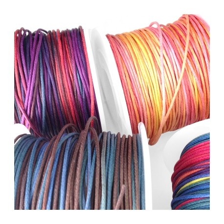 Cotton Waxed Cord 1mm (~50mtrs/spool)