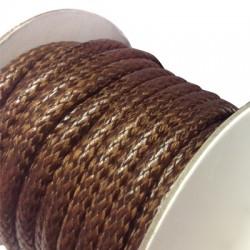 Cordino Sintetico PU Rotondo 5mm Pitonato (~5mtr/bobina)