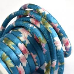 Cordon rond avec motifs 6,5mm (~4,5m/bobine)