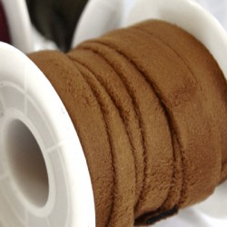 Artificial Suede Cord Flat 10mm (~3mtr/spool)