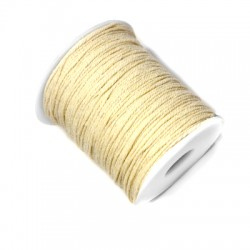 Cotton Braided Cord Round 1mm (100mtrs/spool)