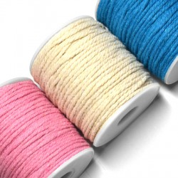 Cord Cotton Braided Round 3mm (~50mtrs/spool)