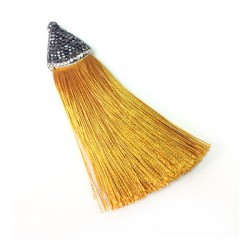 Artificial Silk Tassel with strass cup 21x85mm