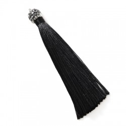 Synthetic Tassel With Strass Cap 95mm
