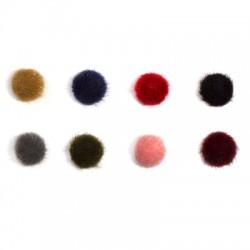 Υφασμάτινο Γουνάκι Κουμπί 15mm