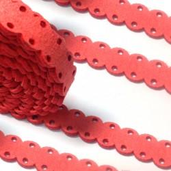 Κορδόνι Σουέτ Συνθετικό Πλακέ με Τρύπες 14mm (1μέτρο)