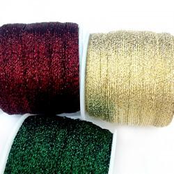 Metallic Thread Cord Flat 7mm (25mtrs/ Spool)