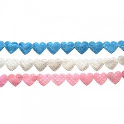 Polyester Ribbon Heart 14x15mm