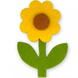 Felt Flower 50x68mm